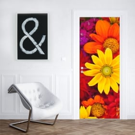 Vinyl flowers to decorate doors and cabinets