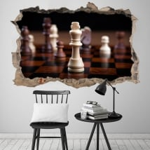 Vinyl 3d king chess hole wall