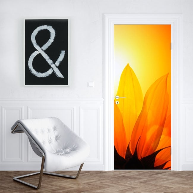 Vinyl decorating doors and cabinets with flowers