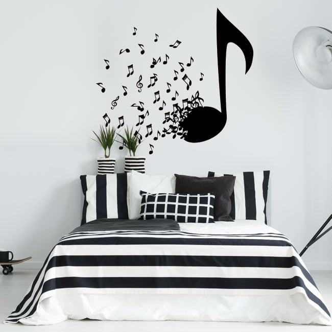 Decorative vinyl and stickers music notes