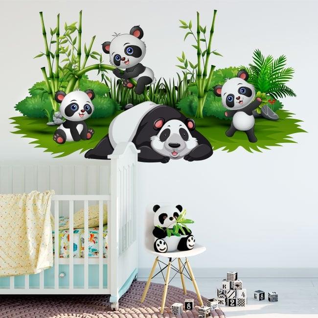 Stickers decorating children's rooms panda bears