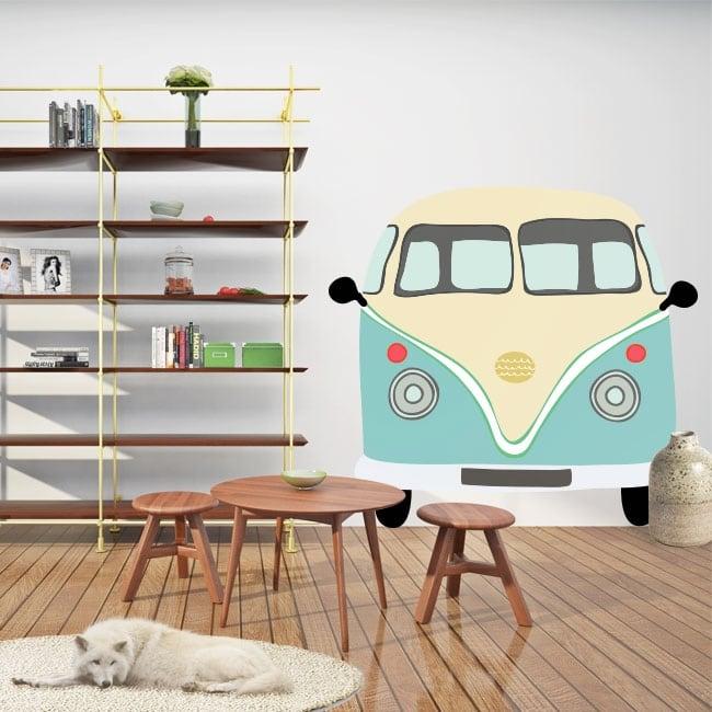 Adhesive vinyl volkswagen t1 kombi to decorate
