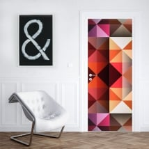 Vinyl for doors and cabinets triangles colors