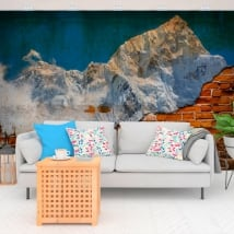 Vinyl murals mount everest broken wall effect