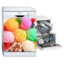 Decorative vinyl to decorate a dishwasher ice creams