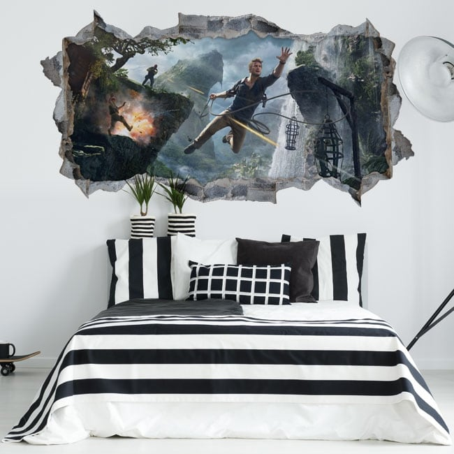 Vinyls video game uncharted 4 3d wall hole