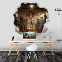 Vinyl video game far cry 5 hole wall 3d