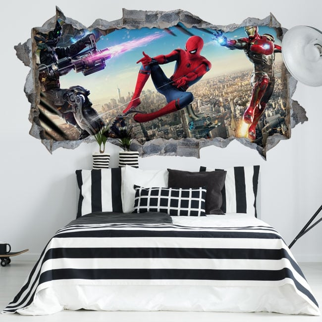 Vinyl Walls Iron Man And Spiderman 3d
