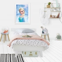 Decorative vinyl disney frozen elsa effect 3d picture