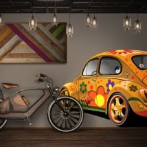 Decorative vinyl and stickers volkswagen beetle