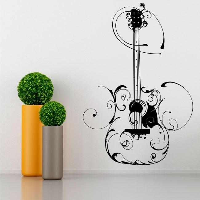 Decorative vinyl guitar with filigree