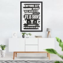 Decorative vinyl new york city effect picture 3d