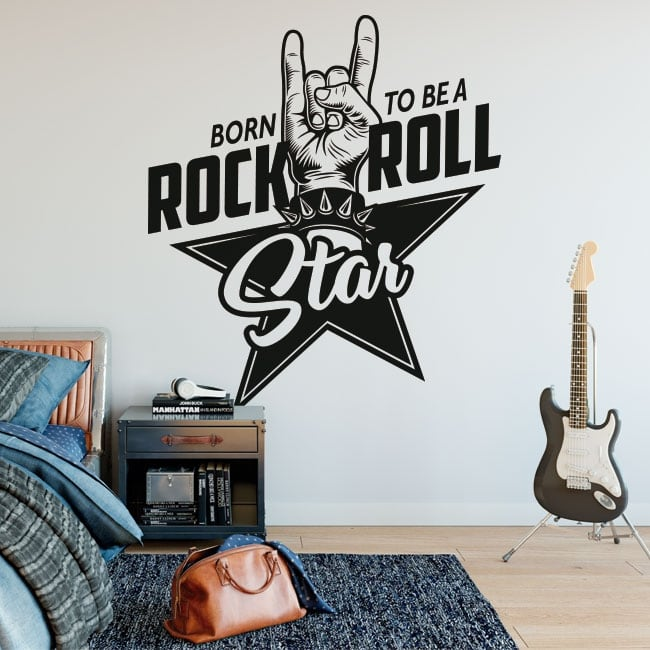 Decorative vinyl rock and roll