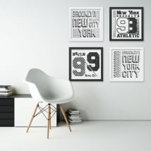 Vinyl and stickers new york 3d effect picture