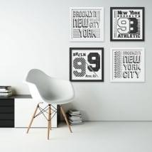 Decorative vinyl new york city effect picture 3d