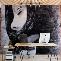 Wall murals adhesive urban graffiti