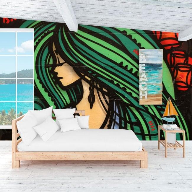 Wall murals decorative vinyl graffiti urban art
