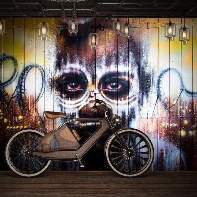 Vinyl murals urban art graffiti
