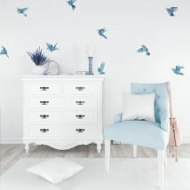 Decorative vinyl and stickers origami birds