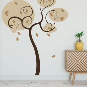 Decorative vinyl and stickers tree to decorate
