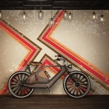 Vinyl murals with retro style to decorate