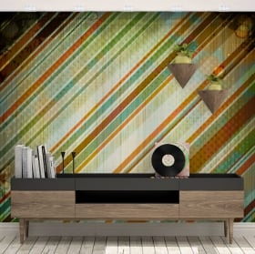 Wall murals vinyls retro style to decorate