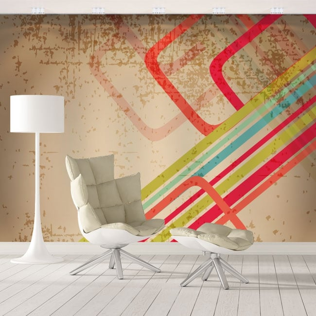 Wall murals retro style to decorate