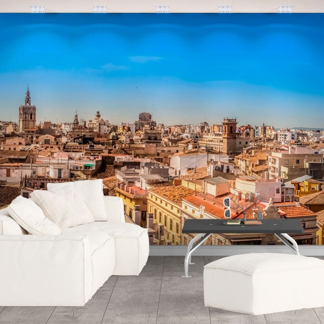 Vinyl wall murals panoramic of valencia