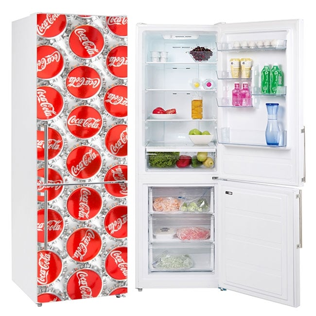 Vinyl to decorate refrigerators coca-cola