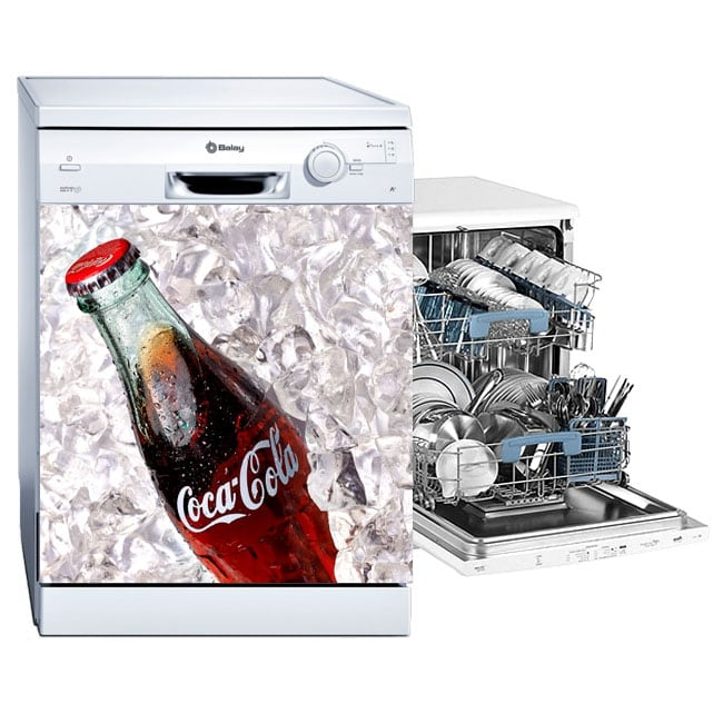 Vinyl for dishwasher coca-cola