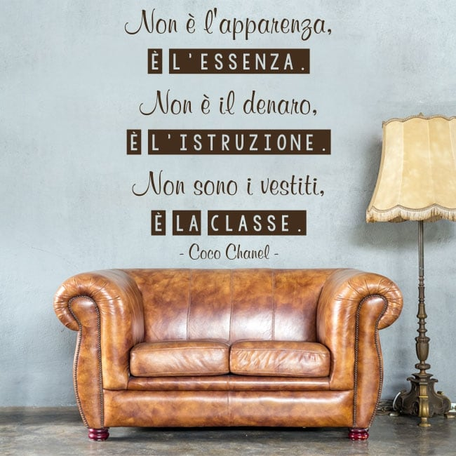 Adhesive vinyl coco chanel italian phrase