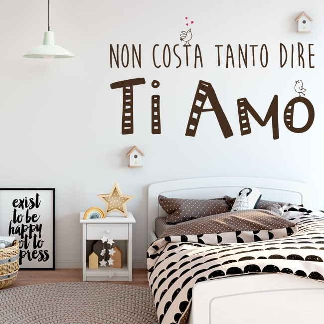 Vinyl and stickers phrases i love you in italian