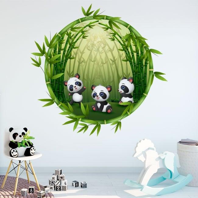 Vinyl children's rooms panda bears