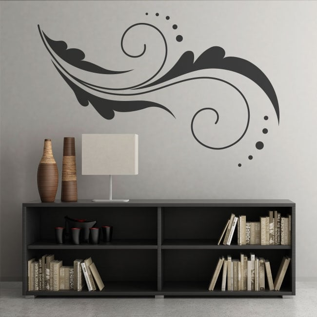 Vinyl flowers decoration walls and objects