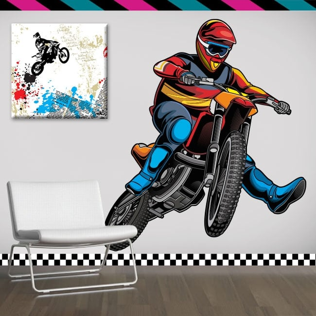 Decorative vinyl and stickers motocross