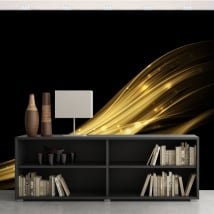 Vinyl wall murals gold strokes