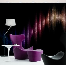 Wall murals of vinyl musical vibrations