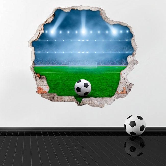 Wall mural 3d soccer field