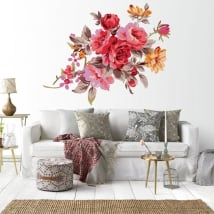 Decorative vinyl flowers walls
