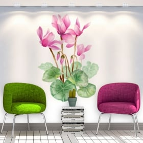 Stickers and decorative vinyls flowers walls