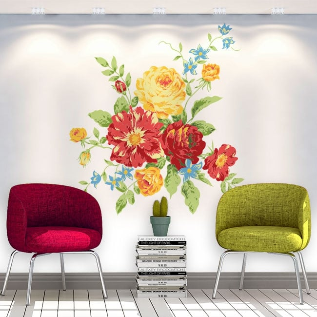 Vinyl stickers flowers walls and objects