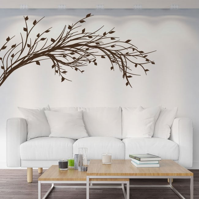 Vinyl stickers tree branch with leaves