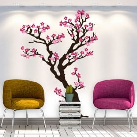 Stickers and decorative vinyls tree with flowers