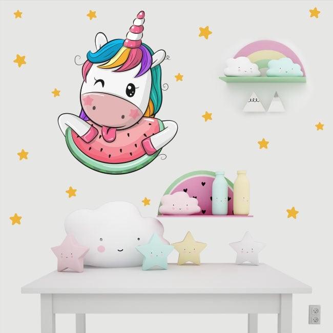 Children's vinyl unicorn and stars