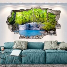 Vinyl decorative waterfalls in Thailand 3D