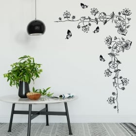Adhesive vinyl and stickers floral corner