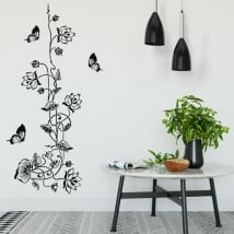 Vinyl and stickers flowers with butterflies
