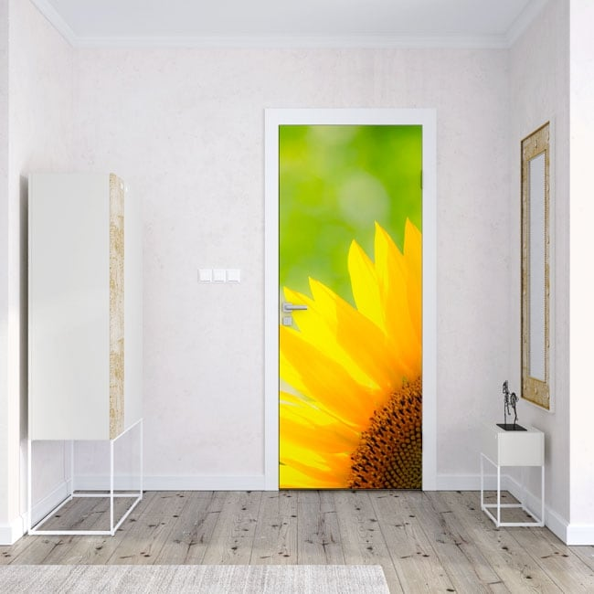 Vinyl decorate doors and cabinets sunflower