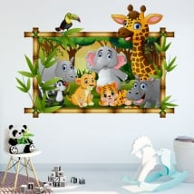 Vinyl children's rooms zoo animals