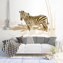 Decorative vinyl and stickers zebra africa